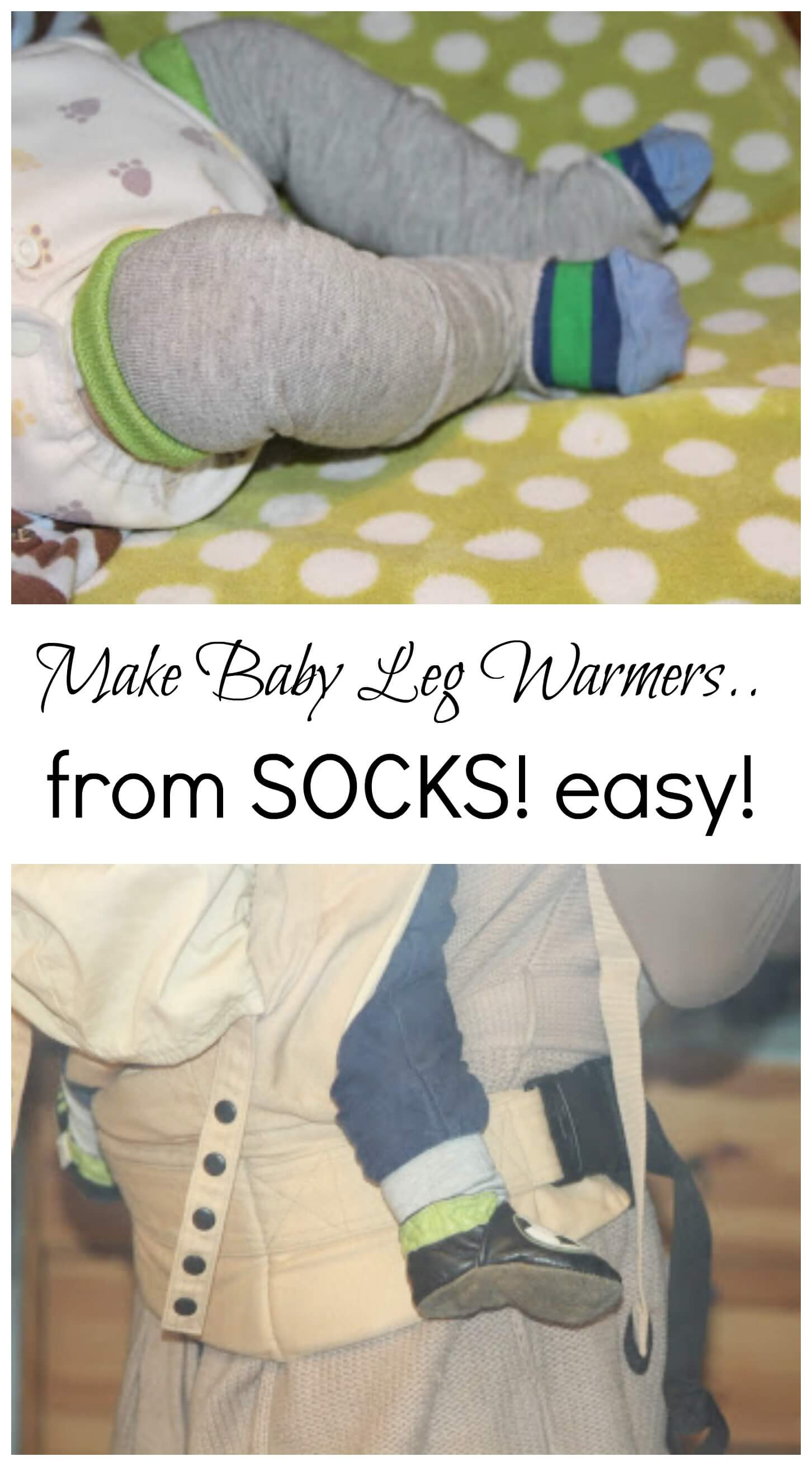 baby boy leg warmers using-adult-socks-from-nap-time-creations