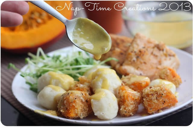 roasted pumpkin with panko and homemade gnocchi