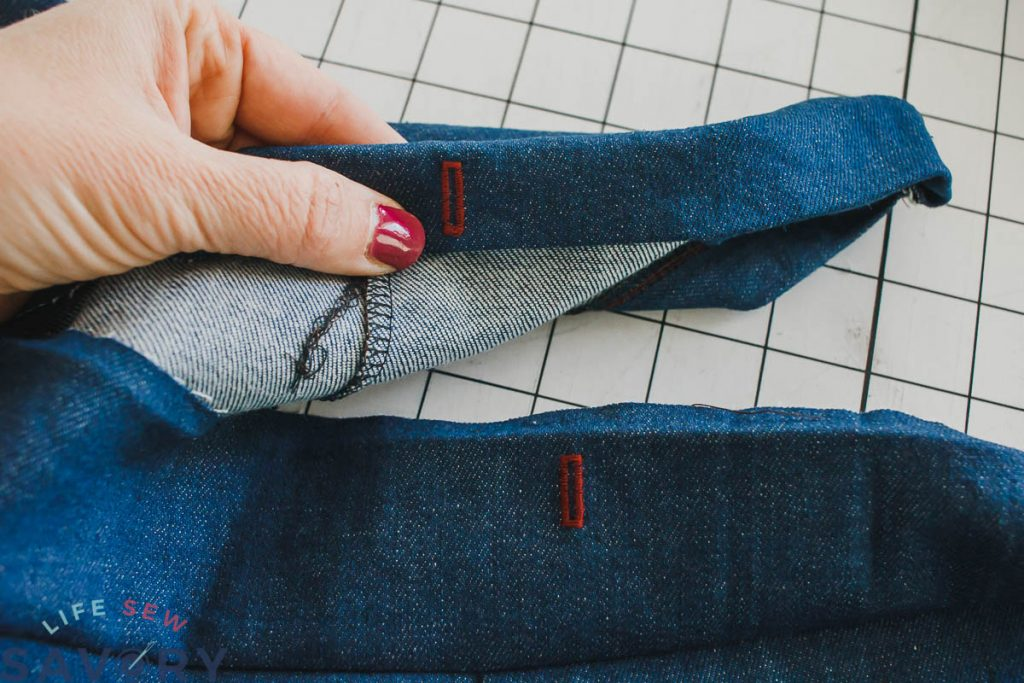button hole in waistband