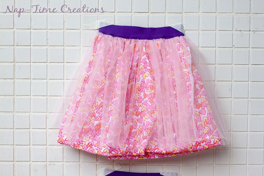 cotton and tulle skirt tutorial 1