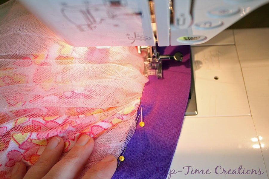 cotton and tulle skirt tutorial 5
