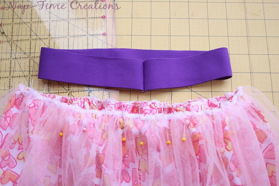 cotton and tulle skirt tutorial 7