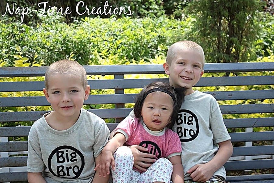 sibling shirts with free iron on file design 1