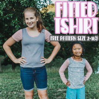 Girls Free TShirt Pattern Short/Long Sleeve