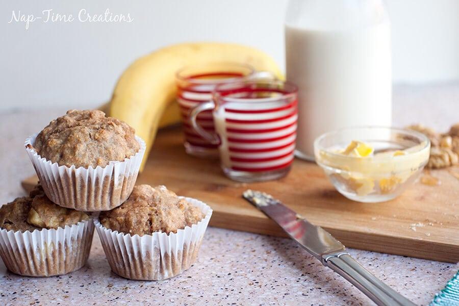Whole Wheat Banana muffins with peanut powder 3