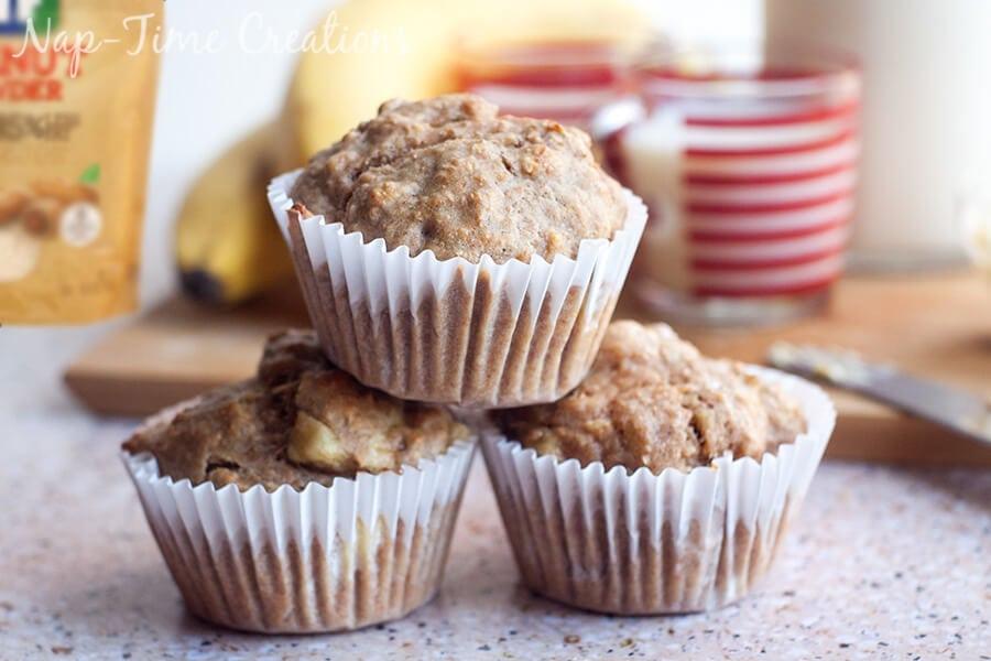 Whole Wheat Banana muffins with peanut powder 5