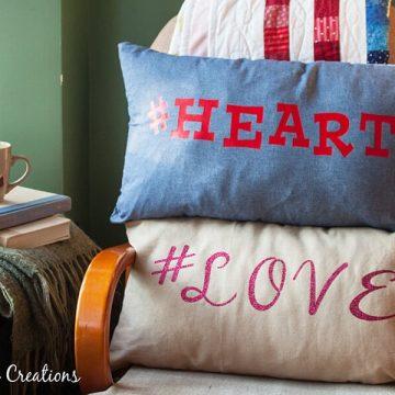 Hastag Valentine Pillows
