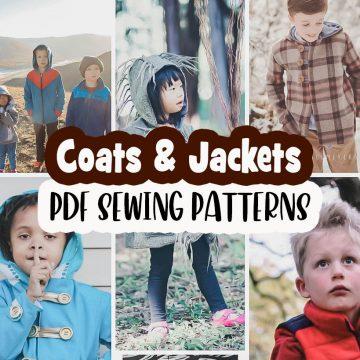 Kids Winter Fall Outerwear Sewing Patterns