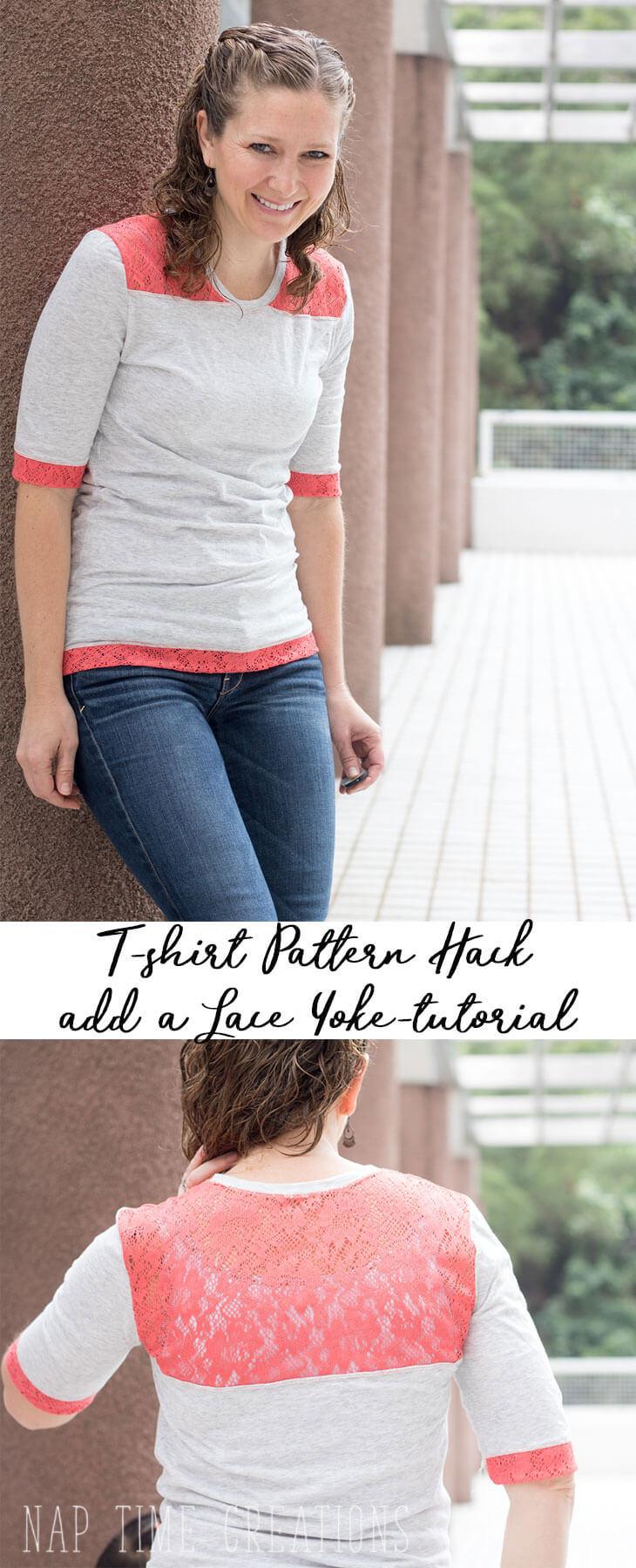 lace yoke shirt tutorial
