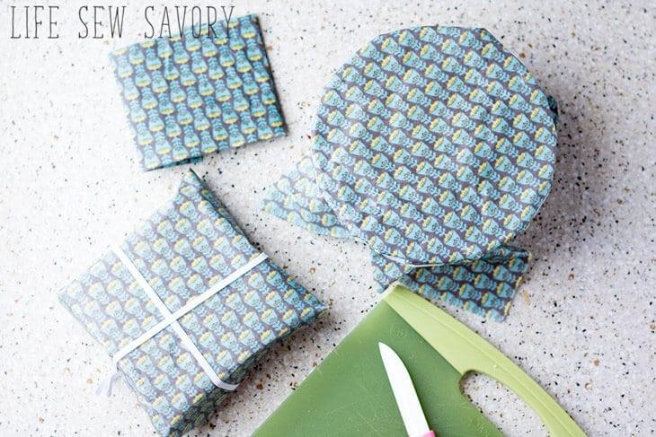 DIY fabric food wrap