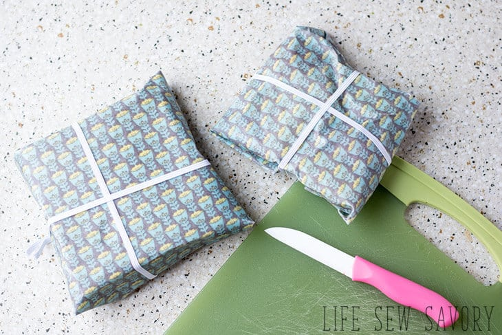 DIY bees wax fabric wraps
