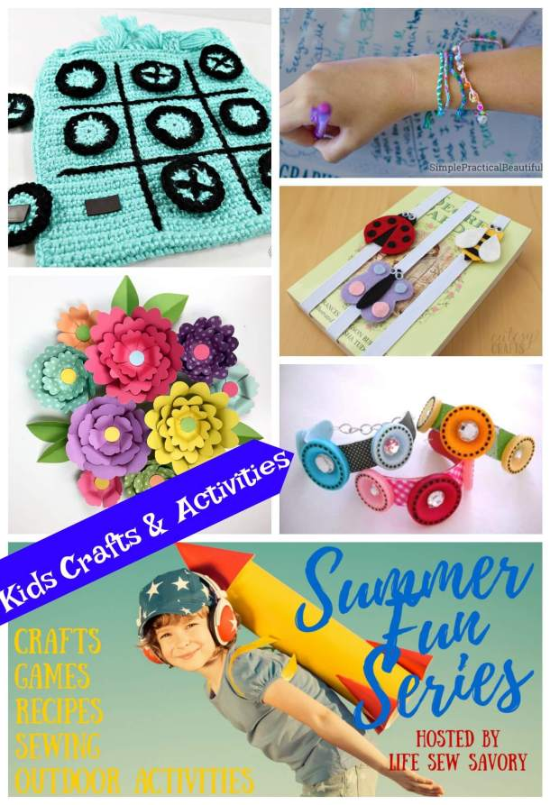 kids crafts and activities from Life Sew Savory Summer fun series