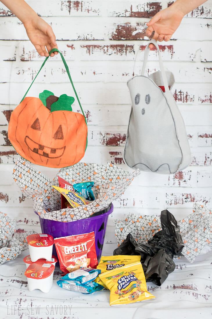 DIY trick or treat bags for Halloween