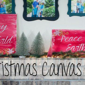 Christmas decor with vinyl