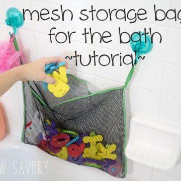 bath toy storage tutorial