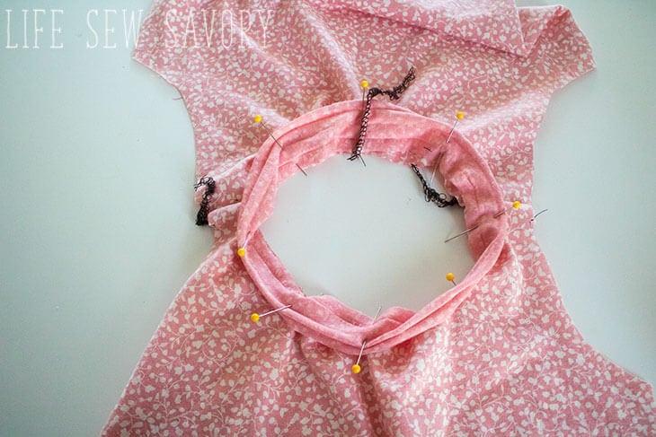 girls swing tee free sewing pattern