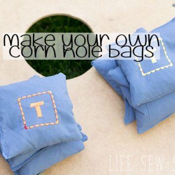 How to Make Corn Hole Bags