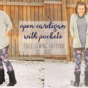 cardigan sewing pattern free