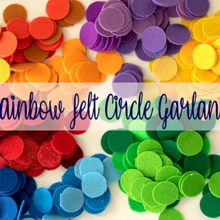 How to Make Felt Circle Garland