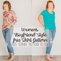 boyfriend style tee free sewing pattern