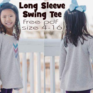 Free Long Sleeve Shirt Pattern - Girls Swing Tee