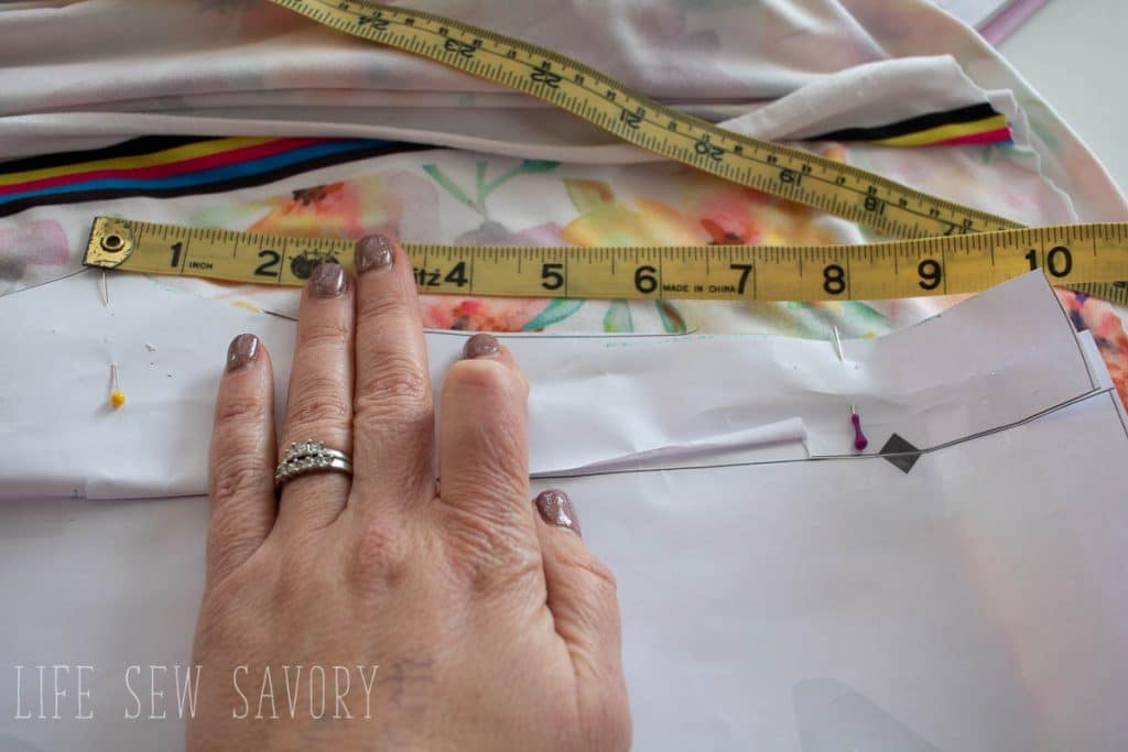 edit the legging pattern for the waistband