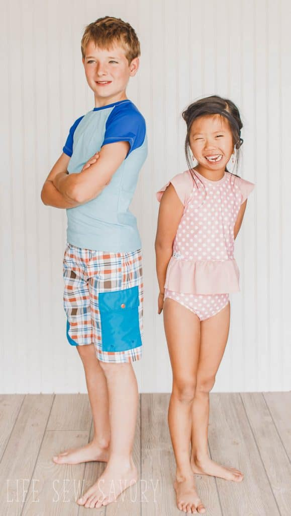 rash guard free pattern for boys and girls