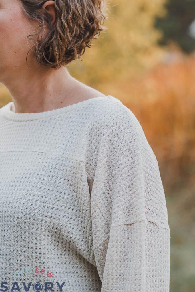 shoulder seams