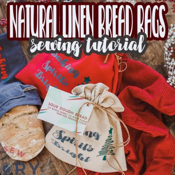 Natural Linen Bread Bags Sewing Tutorial