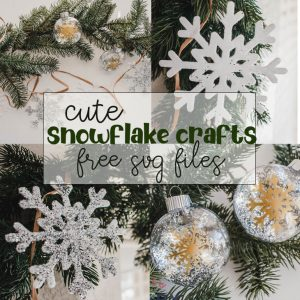 Cute Snowflake Crafts Free SVGs