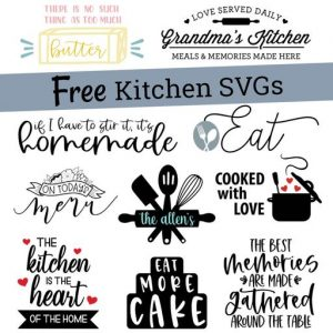 Kitchen Themed SVG files FREE