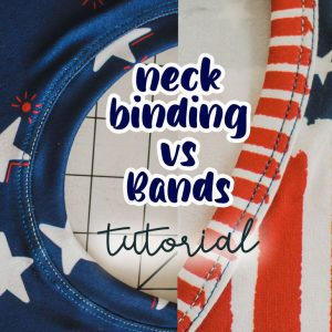 how to sew a neckline- band vs binding