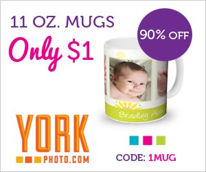 11 OZ. Custom Photo Mug Only $1