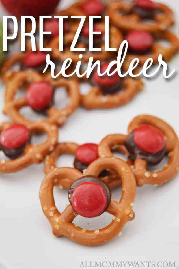 pretzel reindeer