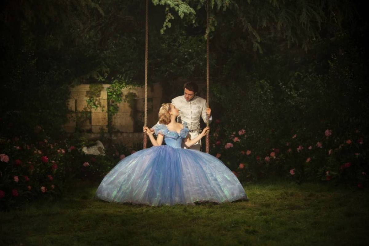 Lily James is Cinderella and Richard Madden is the Prince in Disney's live-action CINDERELLA, directed by Kenneth Branagh.