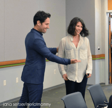 Paul Rudd and Evangeline Lilly From Ant-Man