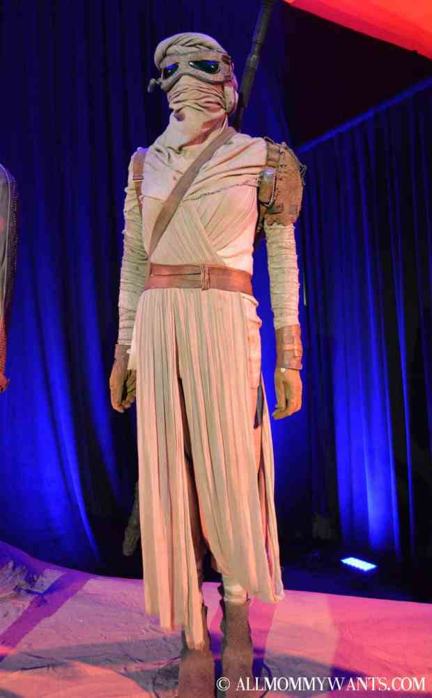 Rey's costume is mostly rags to keep her proteched form the elements.