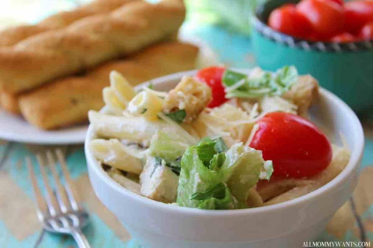 Chicken Caesar Pasta Salad 3