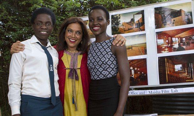 Phiona Mutesi, Mira Nair, and Lupita Nyong'o (Isaac Kasamani/AFP/Getty Images)