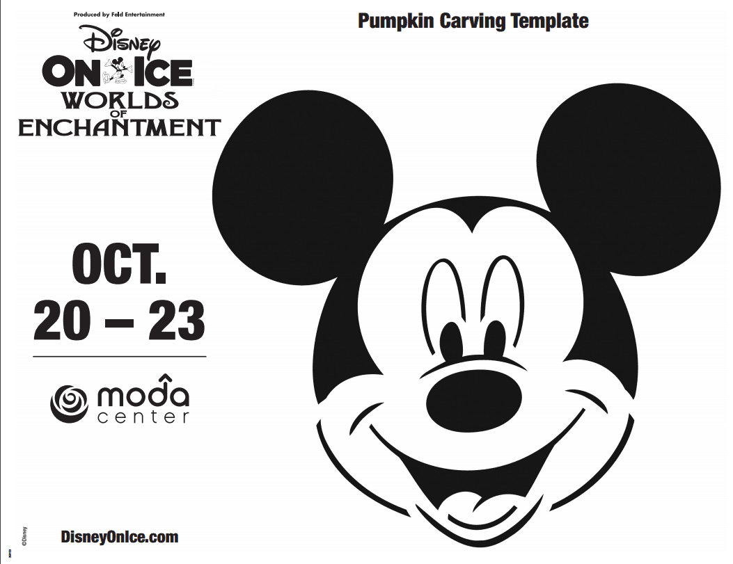 Printable Mickey Mouse Pumpkin Carving Template Life She Has