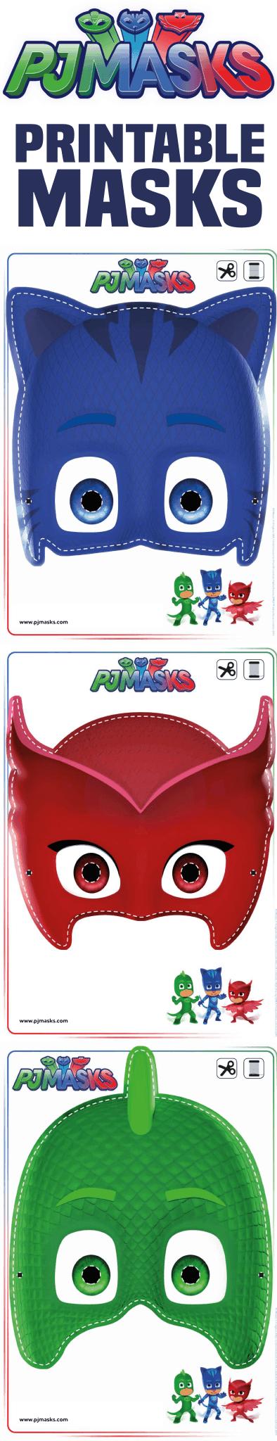 printables pj masks owlette gekko catboy masks life she has