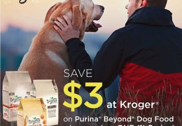 Save $3 on Purina® Beyond® Dog Food at Kroger