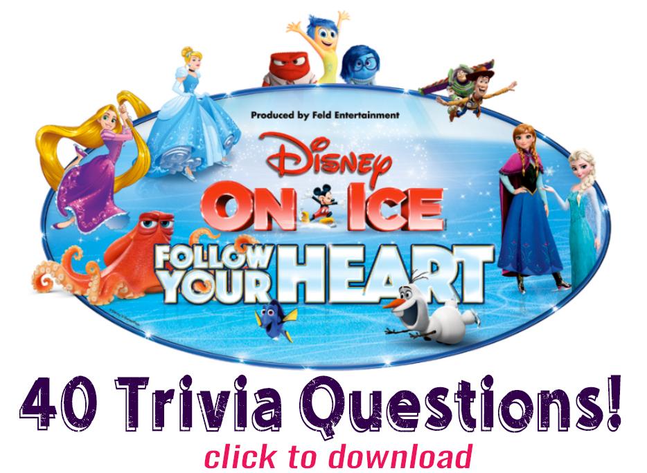photo regarding Disney Trivia Printable known as Printable: Disney Trivia!! Disney Upon Ice within PDX 10/19-22