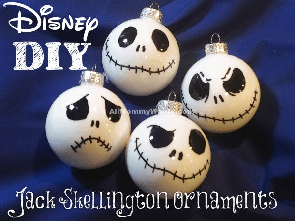DIY – Jack Skellington Ornaments VIDEO (The Nightmare Before Christmas) - DIY - Jack Skellington Ornaments VIDEO (The Nightmare Before