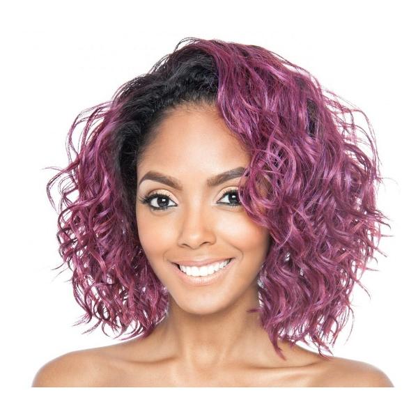 Pink half wig