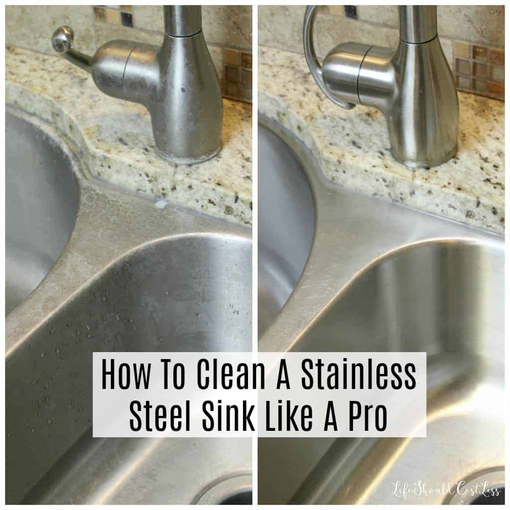 clean a stainless steel sink like