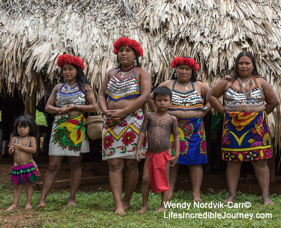 Clothing worn by the Emberá deep in the jungle of the Panama rainforest. Photo Credit: Wendy Nordvik-Carr©