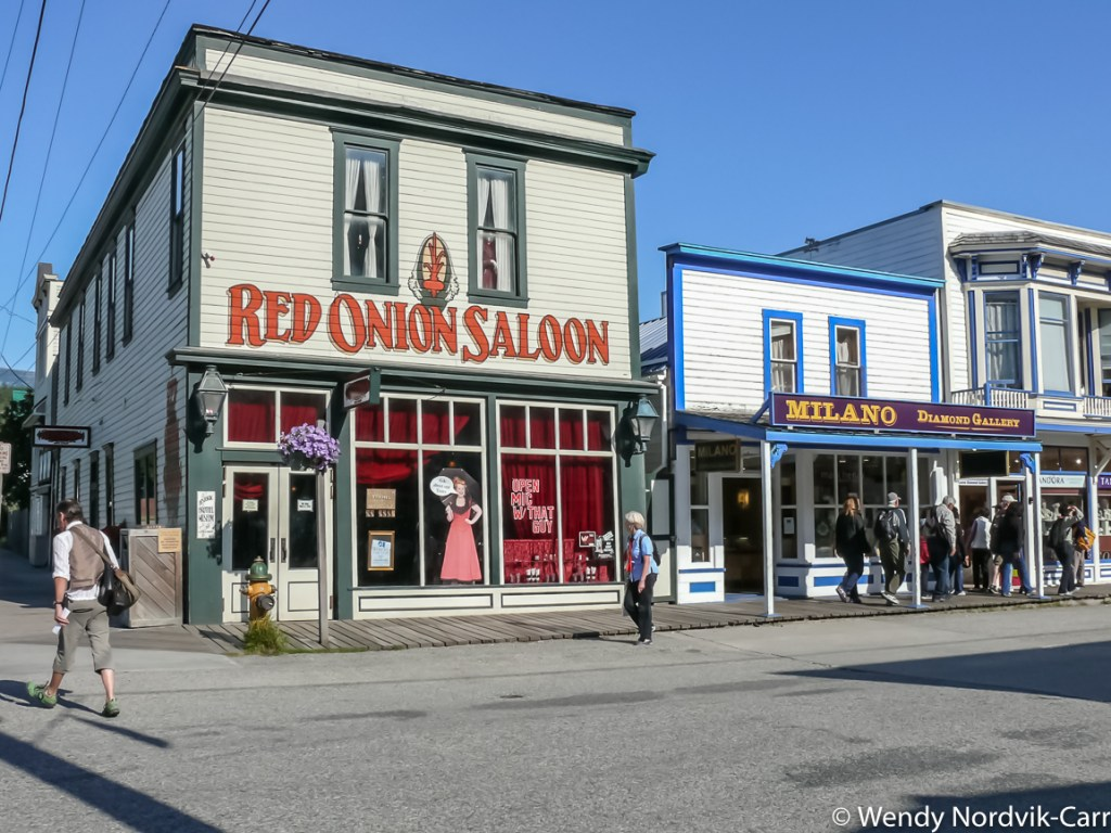 Visit the Red Onion Saloon in Skagway Alaska. Explore top things to do in Skagway while in port. Photo Credit: Wendy Nordvik-Carr