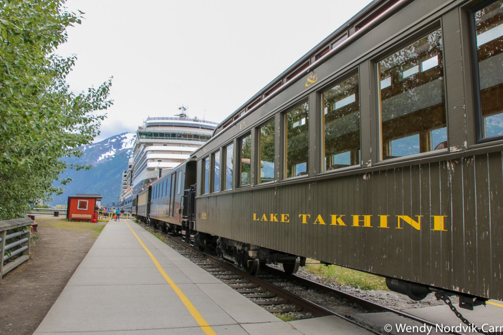 The White Pass and Yukon railway It is one of the most scenic rail routes in North America. Discover the breathtaking scenery of Alaska wilderness. Explore top things to do in Skagway. Photo Credit: Wendy Nordvik-Carr