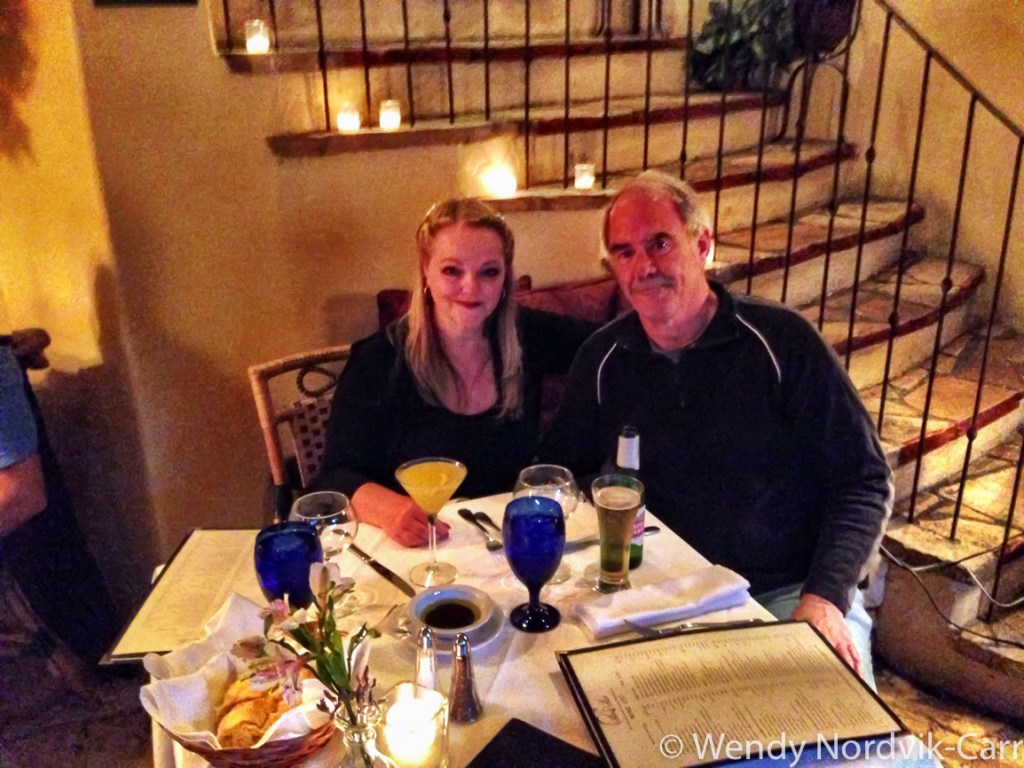 Carmel by the Sea is a romantic getaway. We dined at cozy PortaBella restaurant on Ocean Avenue, where they serve wonderful French and Italian cuisine.
